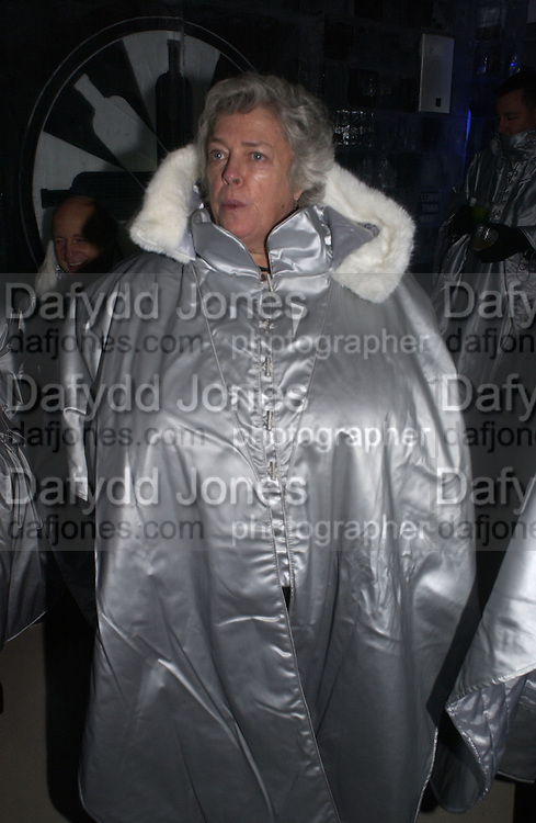 Andrea Lewis of Westminster City Council. Opening of the Absolut Icebar. Heddon St. London. 29 September 2005. ONE TIME USE ONLY - DO NOT ARCHIVE © Copyright Photograph by Dafydd Jones 66 Stockwell Park Rd. London SW9 0DA Tel 020 7733 0108 www.dafjones.com