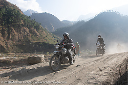 Kiwi Mike Tomas on Day-7 of our Himalayan Heroes adventure riding from Tatopani to Pokhara, Nepal. Monday, November 12, 2018. Photography ©2018 Michael Lichter.