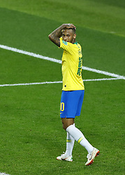 June 27, 2018 - Moscow, Russia - Group E Serbia v Brazil - FIFA World Cup Russia 2018.Neymar (Brazil) after a missed goal at Spartak Stadium in Moscow, Russia on June 27, 2018. (Credit Image: © Matteo Ciambelli/NurPhoto via ZUMA Press)
