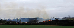 ©under licence to London News Pictures. 05/02/2011.  A Fire at Huntingdon Recycling Centre in Ellington today (05/02/2011) which kept Cambridgeshire fire crews busy untill early this morning (Sat) . They are mainly containing the fire due to its sheer size. Fire is still ongoing. A  section of the A14 is cut off as the fire is right next to passing traffic. Photo credit should read Jason Patel/London News Pictures
