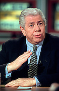 Investigative reporter Carl Bernstein of Watergate fame discusses the impeachment of President Clinton during NBC's Meet the Press December 13, 1998 in Washington, DC.