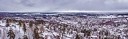 THEMENBILD - Panorama von Oslo mit den Fjorden vom Holmenkollen aus, aufgenommen am 08. Maerz 2019 in Oslo, Norwegen // Panorama from Oslo with the fjords from the Holmenkollen, Oslo, Norway on 2018/03/08. EXPA Pictures © 2019, PhotoCredit: EXPA/ JFK