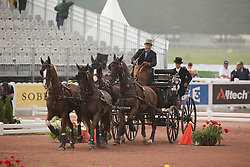 Glenn Geerts, (BEL), Antonio, Ozora Rangos, Red, Scampolo 49, Watapatja - Driving Cones - Alltech FEI World Equestrian Games™ 2014 - Normandy, France.<br /> © Hippo Foto Team - Dirk Caremans<br /> 07/09/14