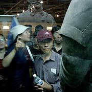 Tourists, Xian, China (May 2004)