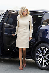 French President's wife Brigitte Macron arrives at the Biarritz lighthouse, southwestern France, ahead of a working dinner on August 24, 2019, on the first day of the annual G7 Summit. Photo by Thibaud Moritz/ABACAPRESS.COM