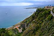 Cityscape of Monte Tauro, Taormina, Sicily, Italy