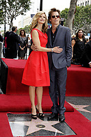 6/8/2009 Kyra Sedgwick and her husband, Kevin Bacon at her Hollywood Walk of Fame ceremony