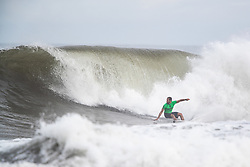Ramzi Boukhiam of Morocco advances to round three after placing second in round two heat 1 ​of the 2018 Hawaiian Pro at Haleiwa, Oahu, Hawaii, USA.