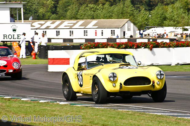 Cobra 289 (chassis #CSX2151) (1963), the hairy canary owned by Bill Bridges, Goodwood Revival 2006