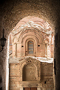 High section of entrance of byzantine Church of the Holy Apostles, Pyrgi, Chios, Greece