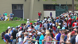 March 11, 2018 - Palm Harbor, FL, U.S. - PALM HARBOR, FL - MARCH 11: Tiger Woods tees off the 13th hole as the gallery grows larger during the final round of the Valspar Championship on March 11, 2018, at Westin Innisbrook-Copperhead Course in Palm Harbor, FL. (Photo by Cliff Welch/Icon Sportswire) (Credit Image: © Cliff Welch/Icon SMI via ZUMA Press)