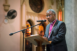 Archbishop Thabo Makgoba, the Anglican archbishop of Cape Town, preaches during a July 19 interfaith prayer service, held at the Roman Catholic Emmanuel Cathedral in Durban, South Africa, during the 2016 International AIDS Conference.