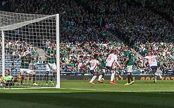 Falkirk's Craig Sibbald goal. <br /> Hibernian 0 v 1 Falkirk, William Hill Scottish Cup semi-final, played 18/4/2015 at Hamden Park, Glasgow.