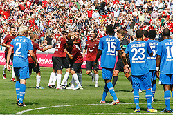 06.08.2011,AWD-Arena, Hannover, GER, 1.FBL, Hannover 96 vs TSG 1899 Hoffenheim, im Bild jubel nach dem Freistosstor von Jan Schlaudraff (Hannover #13).// during the match from GER, 2.FBL,  Hannover 96 vs TSG 1899 Hoffenheim on 2011/08/06, AWD-Arena, Hannover, Germany..EXPA Pictures © 2011, PhotoCredit: EXPA/ nph/  Schrader       ****** out of GER / CRO  / BEL ******