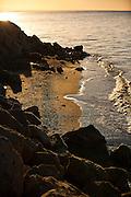 Coast of the Salton Sea at sunrise Imperial Valley, CA.