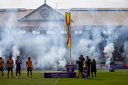 31JUL21 Unfurling of the flag before the game.  half time : Partick Thistle 2 v 1 Queen of the South. First Scottish Championship game of the season.