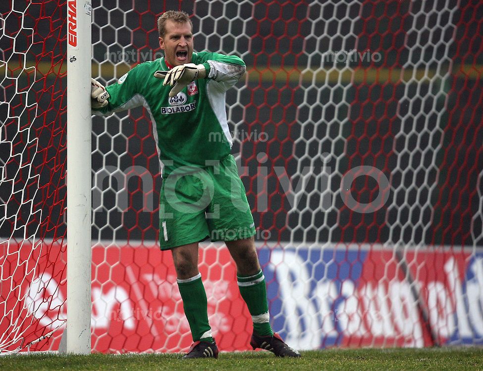 Erfurt , 100207 , Fussball Regionalliga Nord FC Rot Weiss Erfurt - LR Ahlen  Torwart Sebastian VOELZOW (Ahlen)