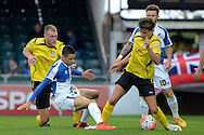 Chesham United midfielder Sam Youngs in action during the The FA Cup match between Bristol Rovers and Chesham FC at the Memorial Stadium, Bristol, England on 8 November 2015. Photo by Alan Franklin.