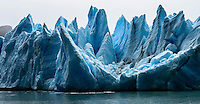 The fragmented peaks of Glacier Grey in Torres del Paine National Park, Chile.