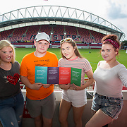 31.05.2018.          <br /> Limerick and Clare Education Training Board launch Youth Work Plan 2018-2021 at Thomond Park Limerick with Pat Breen TD, Minister of State with special responsibility for Trade, Employment, Business, EU Digital Single Market and Data Protection, Clare. <br /> <br /> Pictured at the event were, Emma O'Rahilly, Victor Hogan, Holly O'Riordan and Katie Hayes, Limerick Youth Service. Picture: Alan Place