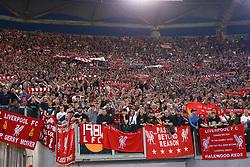 May 2, 2018 - Rome, Lazio, Italy - AS Roma v FC Liverpool - Champions League semi-final second leg.Liverpool supporters at Olimpico Stadium in Rome, Italy on May 02, 2018. (Credit Image: © Matteo Ciambelli/NurPhoto via ZUMA Press)