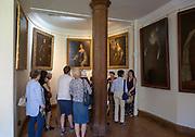 Guided tour around rooms inside Berkeley castle, Gloucestershire, England, UK