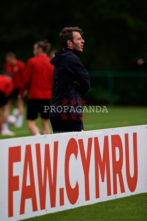 CARDIFF, WALES - Saturday, September 8, 2018: Wales' Ronan Kavanagh during a training session at the Vale Resort ahead of the UEFA Nations League Group Stage League B Group 4 match between Denmark and Wales. (Pic by David Rawcliffe/Propaganda)