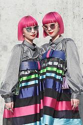Emporio Armani Fashion Show MFW Fashion Show  MFW Womens Fall Winter 2019 - 2020 Fashion show, Milan Italy  21 February 2019  (Credit Image: © Canio Romaniello/Soevermedia via ZUMA Press)
