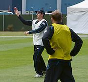 Cricket- Black Caps training session, 01 December 2013<br /> <br /> Doug Bracewell with the ball during the Black Caps New Zealand training session at the University Oval, Dunedin on Sunday 1st December 2013.<br /> Photo: Jane Dawber/Photosport.co.nz