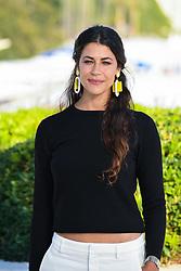 Karima McAdams pose at the photocall of 'Deep State' during MIPCOM (International Market of Communications Programmes) at Palais des Festivals et des Congres, Cannes<br />Marche international des contenus audiovisuels du 16-19 Octobre 2017, Palais des Festivals, Cannes, France.<br /> (Photo by Lionel Urman/Sipa USA)