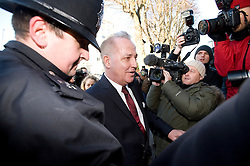 © Licensed to London News Pictures. 07/12/2011. London, UK. Entertainer Michael Barrymore arriving at Ealing Magistrates Court today (07/12/2011) where he faces charges of possession of cocaine and being drunk and disorderly following an early morning car crash last month. The 59-year-old was held at 4.30am on November 22 after a Citroen DS3 hit a kerb in Acton, west London.. Photo credit: Ben Cawthra/LNP