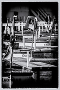 Henley on Thames, Henley. UK. Umpires Launches',  moored<br /> Henley Royal Regatta 2000<br /> <br /> [Mandatory Credit Peter Spurrier/ Intersport Images]