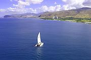 Catamaran, Leeward Coast, Oahu, Hawaii<br />