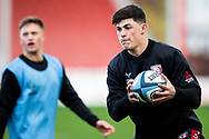 Louis Rees-Zammit of Gloucester Rugby during the pre match warm up - during the Gallagher Premiership Rugby match between Gloucester Rugby and Exeter Chiefs at the Kingsholm Stadium, Gloucester, United Kingdom on 26 March 2021.