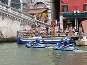 Two Men Jet Skiing on the Grand Canal, Venice. 2013.