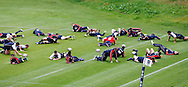 Picture by Andrew Tobin/Tobinators Ltd +44 7710 761829.24/05/2013.The England team warm up during the England training session at Pennyhill Park, Bagshot ahead of the match against the Barbarians on 26th May 2013.