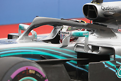 October 20, 2018 - Austin, USA - Mercedes AMG Petronas driver Lewis Hamilton (44) of Great Britain prepares to exit the pit area during the third practice session at the Circuit of the Americas in Austin, Texas on Saturday, Oct. 20, 2018. (Credit Image: © Scott Coleman/ZUMA Wire)