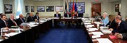 President Barack Obama chairs a meeting at the Pentagon of the National Security Council and receives an update from his national security team on the campaign to degrade and destroy the ISIL terrorist group. Washington, DC, USA, August 4, 2016. Photo by Dennis Brack/Pool/ABACAPRESS.COM