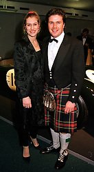 MR & MRS MARK STEWART, son of racing driver Jackie Stewart, at a dinner in London on 25th January 2000.OAI 6