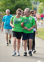 The 2013 WOW Fest brought out hundreds of walkers, runners and bikers out on the WOW Trail.   (Karen Bobotas/for the Laconia Daily Sun)