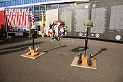 A miniature version of the Vietnam War Memorial that comemorates those lost in action from Oregon.