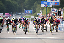 The sprint for third place at Grand Prix de Plouay Lorient Agglomération a 121.5 km road race in Plouay, France on August 26, 2017. (Photo by Sean Robinson/Velofocus)