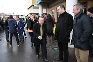David Sullivan, the West Ham United joint chairman arrives at Boleyn Ground before k/o. The Emirates FA cup, 3rd round match, West Ham Utd v Wolverhampton Wanderers at the Boleyn Ground, Upton Park  in London on Saturday 9th January 2016.<br /> pic by John Patrick Fletcher, Andrew Orchard sports photography.