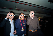 EZEQUIEL SURANYI, RILDO RODRIGUEZ AND PHILIPPE SENDEROS LOOKING AT 3D GRAFFITI ART BY CHU, The launch of Your Game 2008. Swiss Ambassador's Residence car park. Bryanston Sq. London. W1. 28 February 2008.  *** Local Caption *** -DO NOT ARCHIVE-© Copyright Photograph by Dafydd Jones. 248 Clapham Rd. London SW9 0PZ. Tel 0207 820 0771. www.dafjones.com.