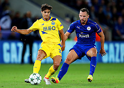Oliver Torres of FC Porto and Daniel Drinkwater of Leicester City  - Mandatory by-line: Matt McNulty/JMP - 27/09/2016 - FOOTBALL - King Power Stadium - Leicester, England - Leicester City v FC Porto - UEFA Champions League