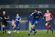 Sunderland midfielder Grant Leadbitter (23) plays a pass during the EFL Sky Bet League 1 match between Ipswich Town and Sunderland at Portman Road, Ipswich, England on 26 January 2021.