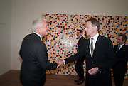 LARRY GAGOSIAN; SIR NICHOLAS SEROTA, Damien Hirst, Tate Modern: dinner. 2 April 2012.