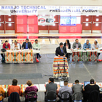 072114  Adron Gardner/Independent<br /> <br /> The Navajo Nation presidential election candidate forum begins at Navajo Technical University in Crownpoint Monday.