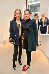 Left to right, PETRA PALUMBO and ANTONIA JOLLES at a private view of Bright Young Things held at the David Gill Gallery, 2-4 King Street, London on 19th April 2016.