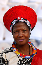 PRETORIA, SOUTH AFRICA - African women dressed in traditional clothes for the inauguration ceremony for South African President Thabo Mbeki , which marks the 10th Anniversary of the fall of Apartheid in South Africa. (Photo © Jock Fistick)